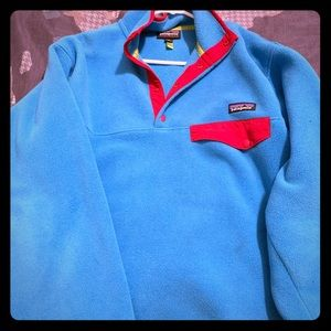 Patagonia Electric Blue Fleece Synchilla Pullover
